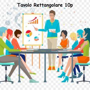 Sale Meeting 10 Postazioni Rettangolare, Sale Riunioni, Sale convegni, Sale Formazioni, Sale Video Conferenza