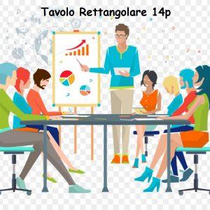 Sale Meeting 14 Postazioni Rettangolare, Sale Riunioni, Sale convegni, Sale Formazioni, Sale Video Conferenza